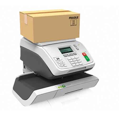 The TFm-360 franking machine from Twofold Ltd with weigh platform