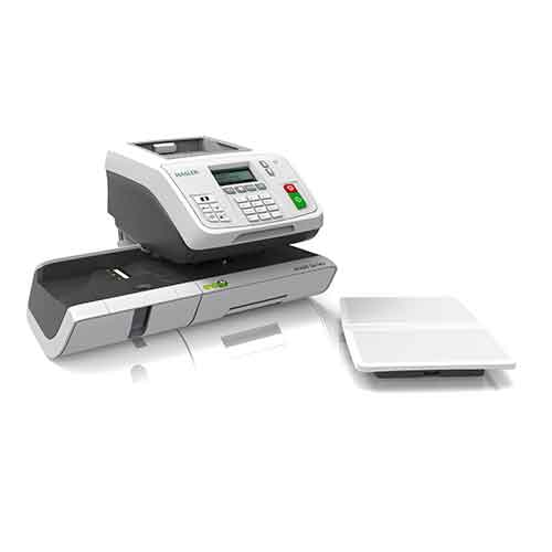 Side view of the TFm-360 franking machine from Twofold Ltd