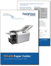 TFf-420 paper folder brochure from Twofold Ltd