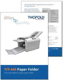 TFf-440 paper folder brochure from Twofold Ltd