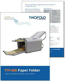 TFf-460 paper folder brochure from Twofold