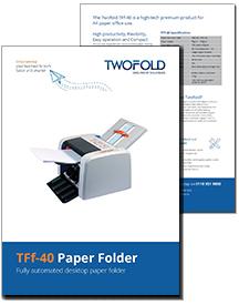 TFf-40 paper folder brochure from Twofold Ltd