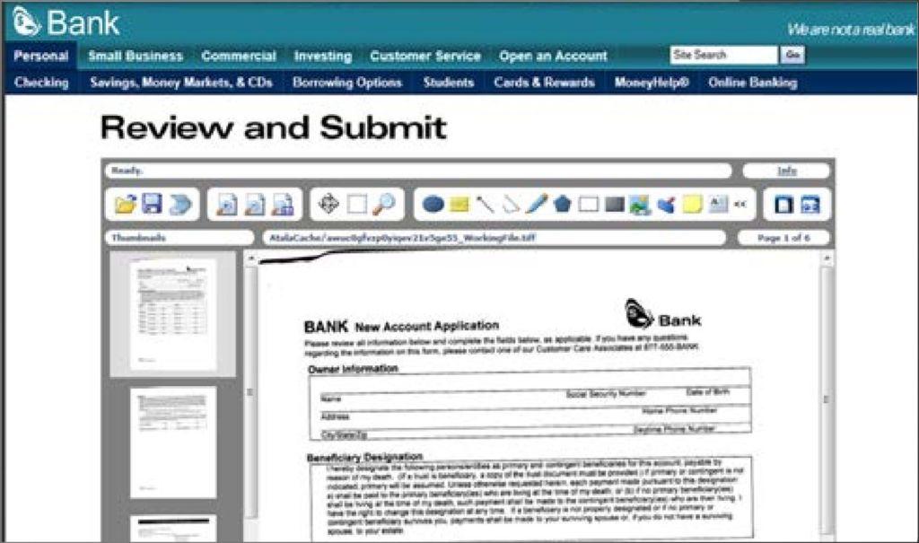kofax web capture screen shot