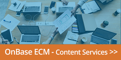 link to OnBase ECM content services page