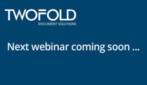 webinar from Twofold coming soon