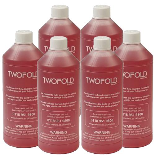 six bottles of folder inserter machine Twoseal sealing sluid