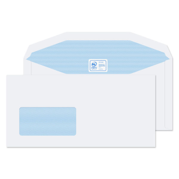 White envelope with address window