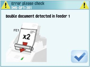 error image for folder inserter manual
