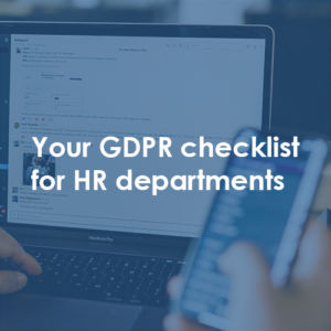 Link to Blog on GDPR for HR departments