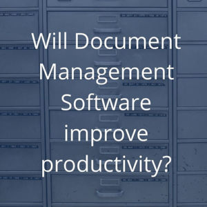 will document management software improve productivity