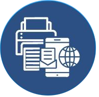 print or mobile mail delivery icon